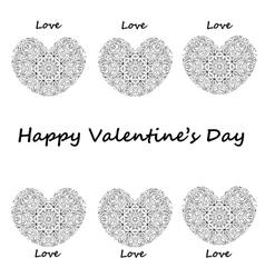 Postcard happy Valentines day hearts with vintage vector image vector image