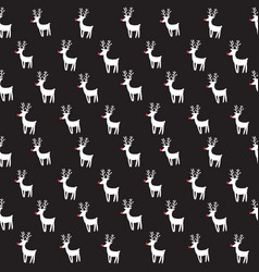 seamless pattern with rein deers vector image