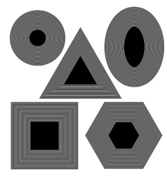 Set f Different Geometric Shapes vector image vector image