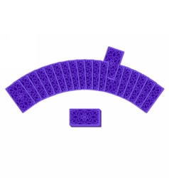 Tarot cards by reverse side laying in a semicircle vector