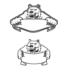 wild bear mascot logo vector image