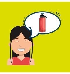 woman sport health icon vector image