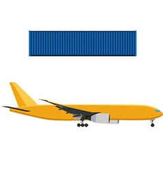 Airplane and container vector image vector image