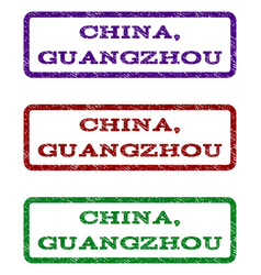 china guangzhou watermark stamp vector image vector image
