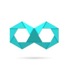 Hexagon infinity logo symbol vector
