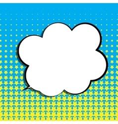 Pop Art Speech Bubble vector image