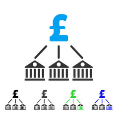 bank pound expenses flat icon vector image
