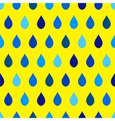 Blue Tone Rain Yellow Background vector image vector image