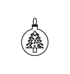 christmas tree toy icon vector image vector image