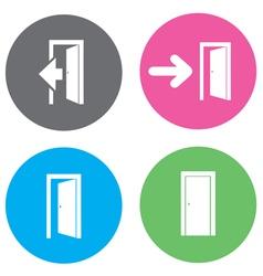 door open flat vector image