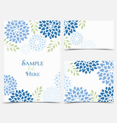 floral invitations vector image