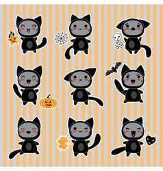 Halloween Cartoon Cat Character vector image