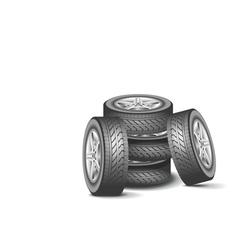 Modern wheel vector image