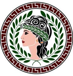 patrician women stencil second variant vector image vector image