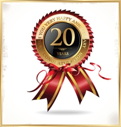 20 years anniversary label vector image