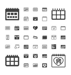 37 month icons vector