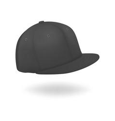 3d realistic render black blank baseball vector image