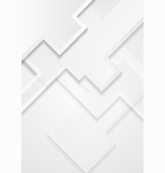abstract hi-tech geometric grey white vector image