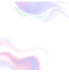 abstract holographic fluid waves background vector image