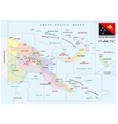 Administrative map provinces papua new guinea vector