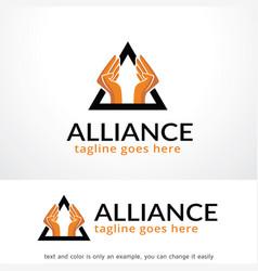 Alliance logo template design emblem design vector
