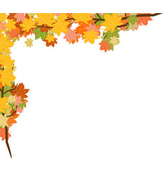 autumn leaves background with transparency red vector image