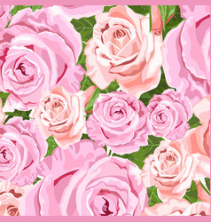 beige and pink roses floral background vector image