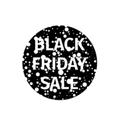 Black friday sale banner with white random points vector