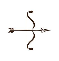 Bow and arrow vintage decorative royal luxury vector