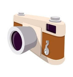 Camera retro cartoon symbol vector