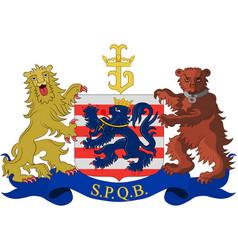 Coat of arms of bruges in west flanders in belgium vector