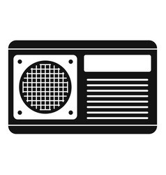 Conditioner fan icon simple style vector