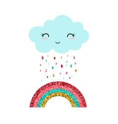 Cute rainbow vector