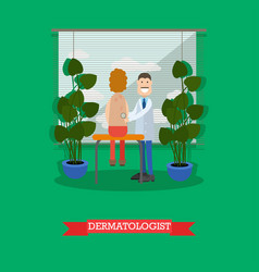 dermatologist and patient in vector image