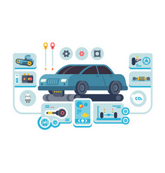 diagnostics service cars at auto station vector image