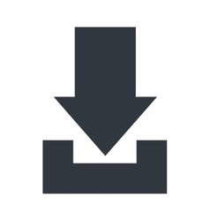 Download symbol with arrow design vector