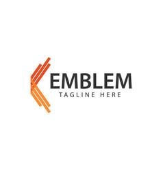 Emblem logo template design vector