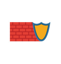 Firewall icon simple element from security icons vector