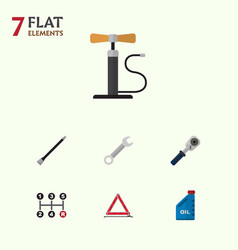 Flat icon service set of petrol carrying vector