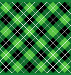 Green and black halloween argyle harlequin pattern vector