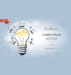 hand drawn business startup template vector image