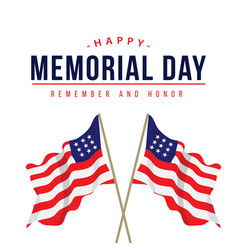 happy memorial day template design vector image