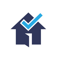 house check logo design vector image