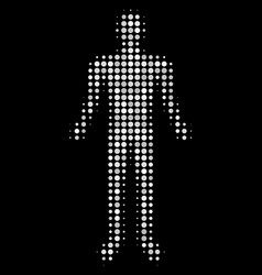 human halftone icon vector image