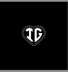 I g letter logo design on black color background vector