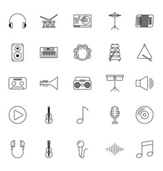 icon set classical music vector image