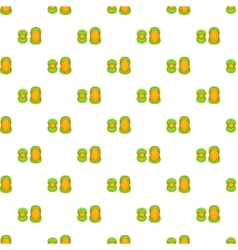 Knee protector and elbow pad pattern cartoon style vector