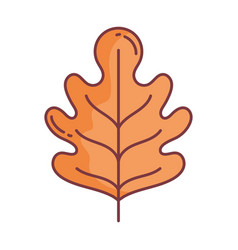 leaf hello autumn design icon vector image