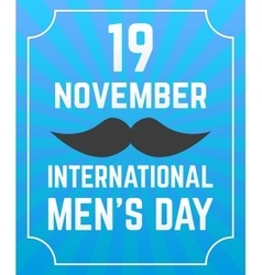 Mens Day poster vector image