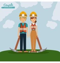 Miner profession design vector